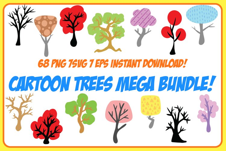 Cartoon Trees From Nature Collection! EPS, PNG and SVG example image 1