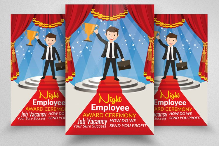 Employee Award Party Night Flyer example image 1