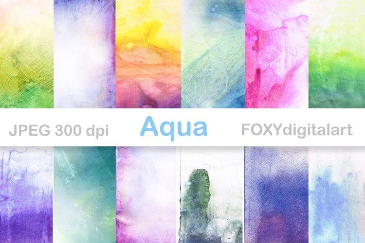 Watercolor digital papers scrapbook watercolor texture example image 1