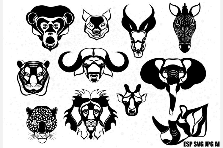 Animal heads of Africa example image 1