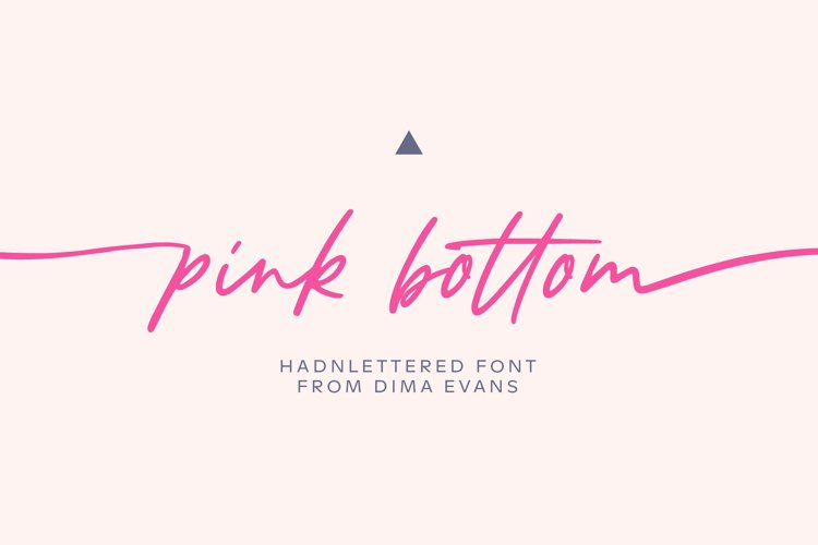 Pink Bottom Romantic font example image 1