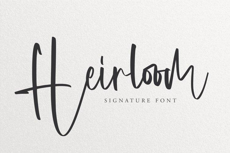 Heirloom - Signature Font example image 1