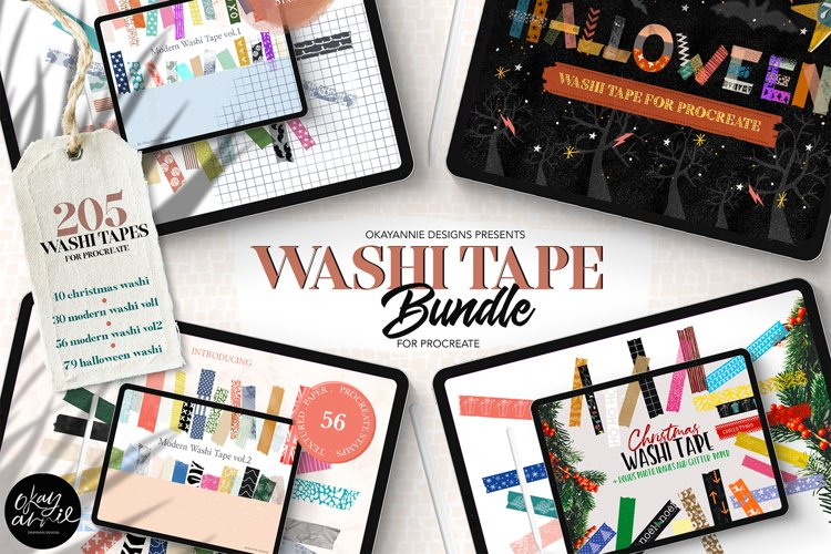 205 Washi Tape Bundle for Procreate