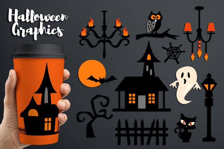 Haunted house clipart, Halloween graphics and illustrations