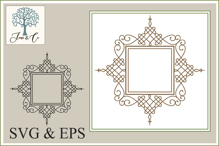 Border 03, An Ornate Border Illustration in SVG and EPS example image 1