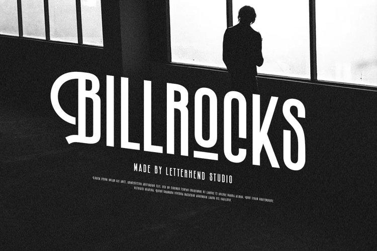 Billrocks - Sans serif Display Font example image 1