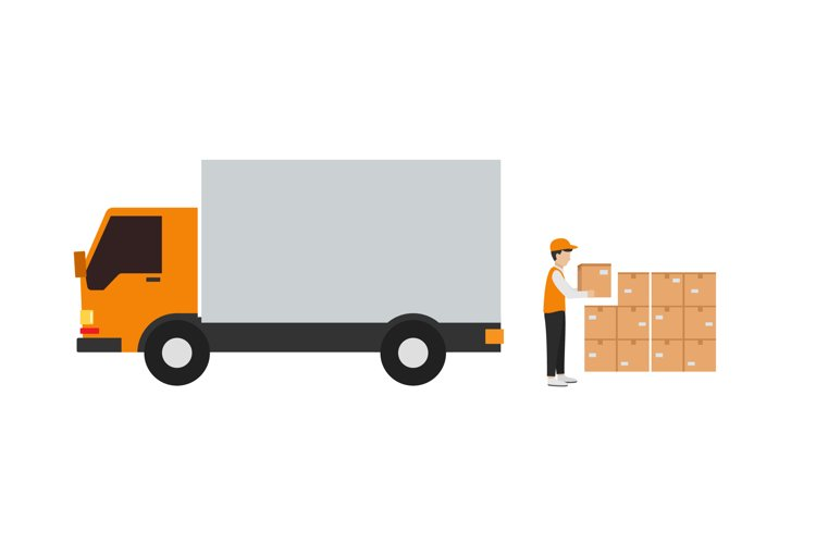 courier delivery of goods by truck example image 1