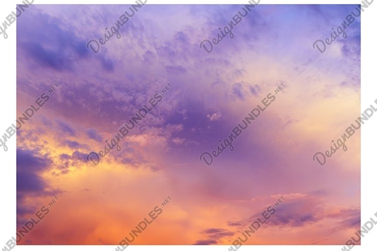red bright clouds example image 1