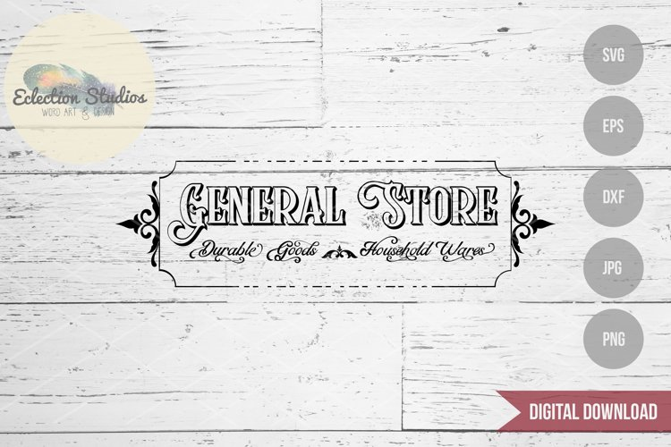 General Store Sign SVG example image 1