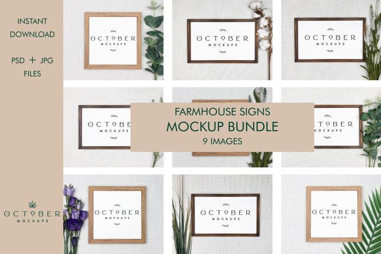 Farmhouse Sign Mockup Bundle PSD JPG | Frame Mockup bundle