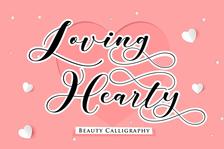 Loving Hearty - A Beauty Script Fonts example image 1