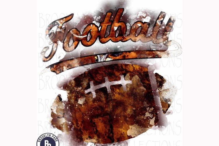 Watercolor Football Art Design, Sublimation PNG