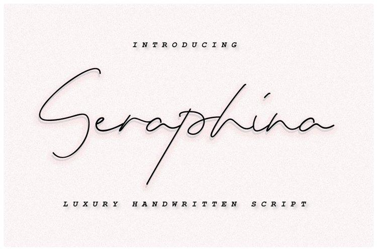 Seraphina Script Font - Bold&Regular example image 1