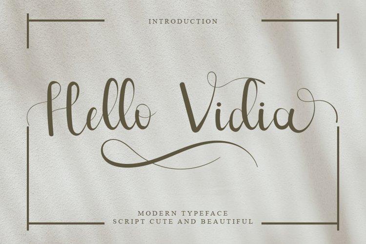 Hello Vidia - A Beautiful Script Font example image 1