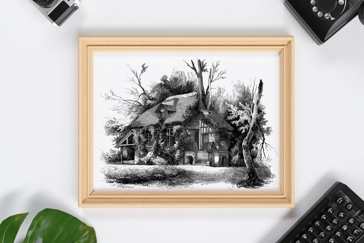 Rustic Wall Decoration, Printable Wall Decor, Old House example image 1
