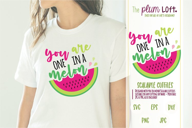 You are one in a melon - Watermelon - SVG Design example image 1