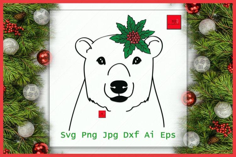 Bear Santa hat svg file, Bear with Hat svg, Christmas svg