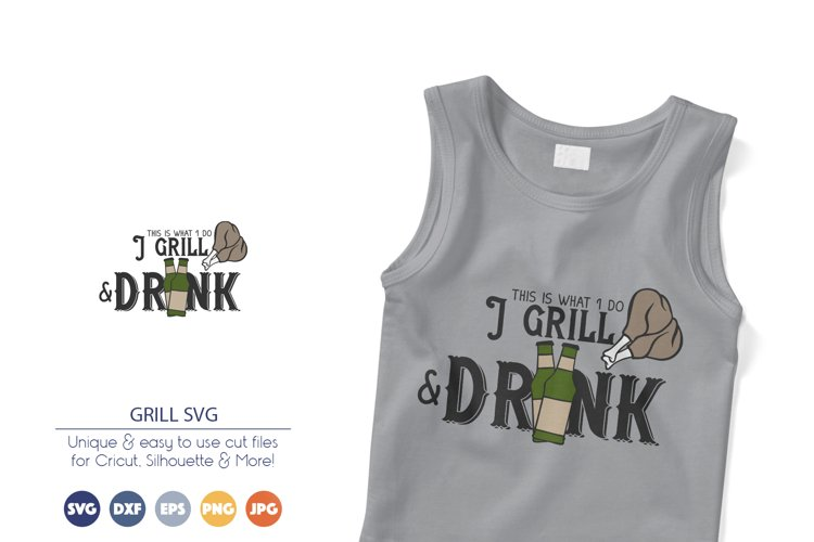 Grill and Beer SVG example image 1