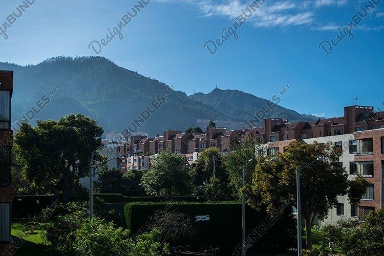 Bogota mountains at sunrise