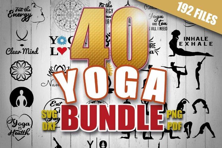 40 Yoga SVG Bundle, Silhouette Studio, Cricut
