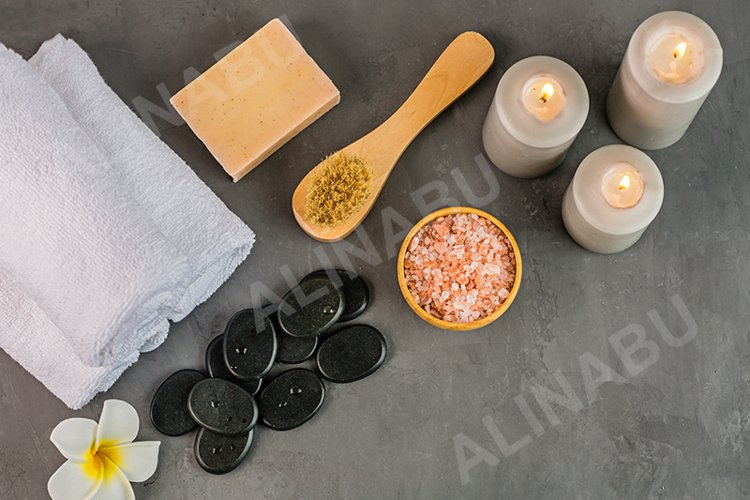 Spa massage Aromatherapy body care background