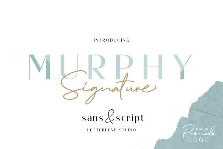 Murphy - Script & Sans BONUS example image 1