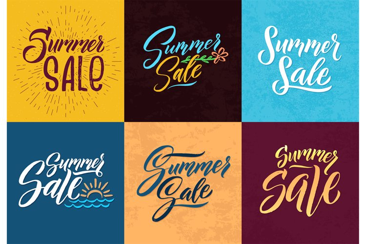 Summer sale. Hand writing words. Vector letters example image 1
