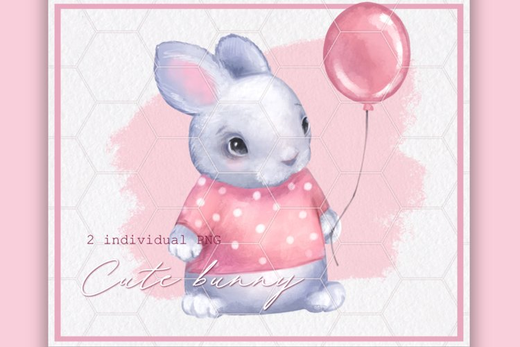 Cute bunny 2 color example image 1