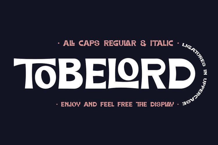 TOBELORD Display Sans Serif example image 1