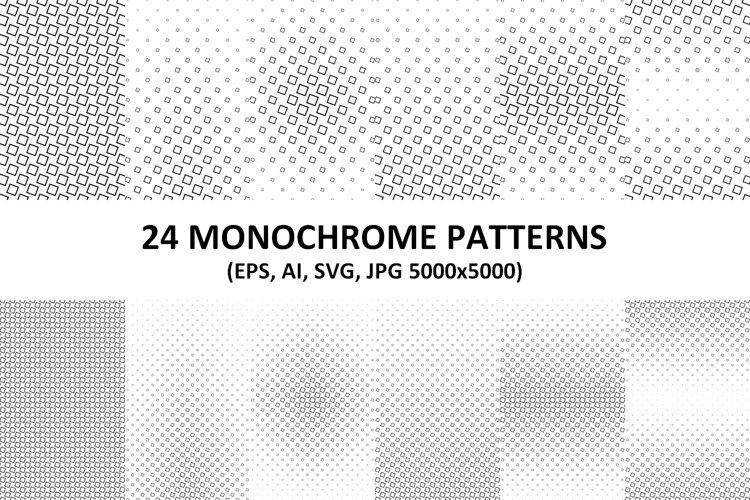 24 Monochrome Square Patterns