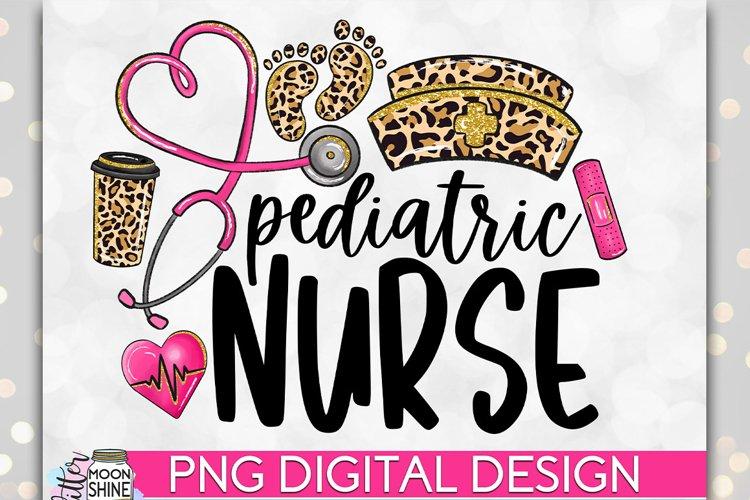 Pediatric Nurse Leopard PNG Sublimation Design