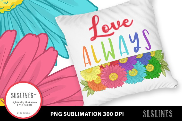 Daisy - Love Always PNG sublimation example image 1