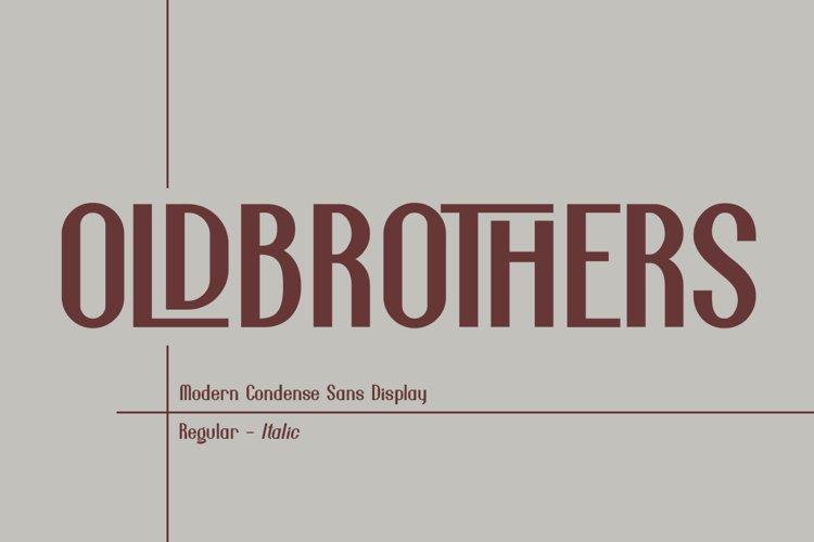 Oldbrothers Condense Sans example image 1