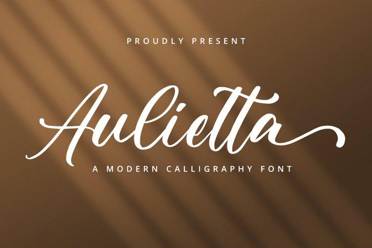 Aulietta Script example image 1