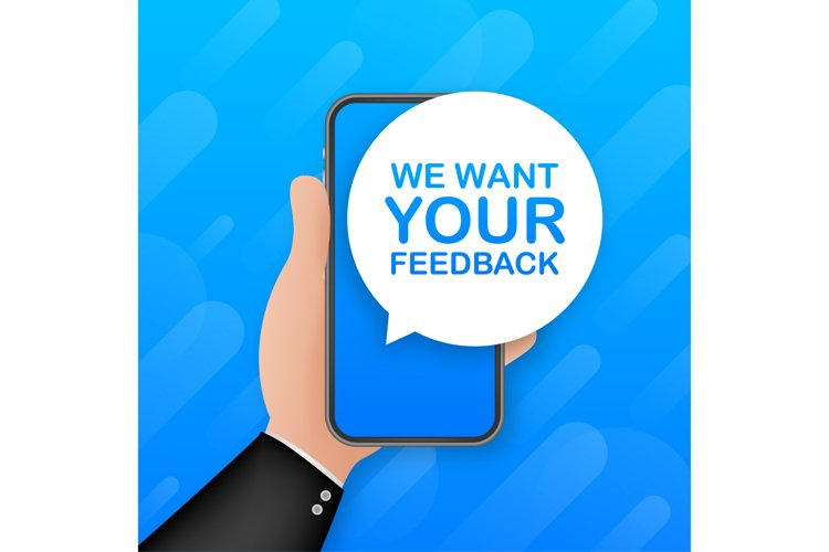 We want your feedback on smartphone screen. Customer service example image 1