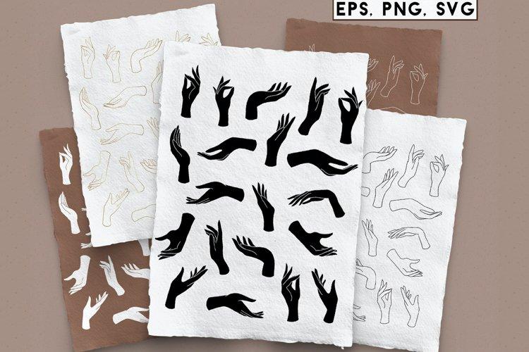 Hands set, PNG, SVG