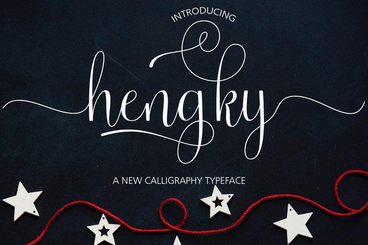 Hengky Script example image 1