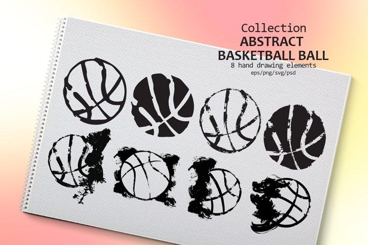 Abstract Basketball balls