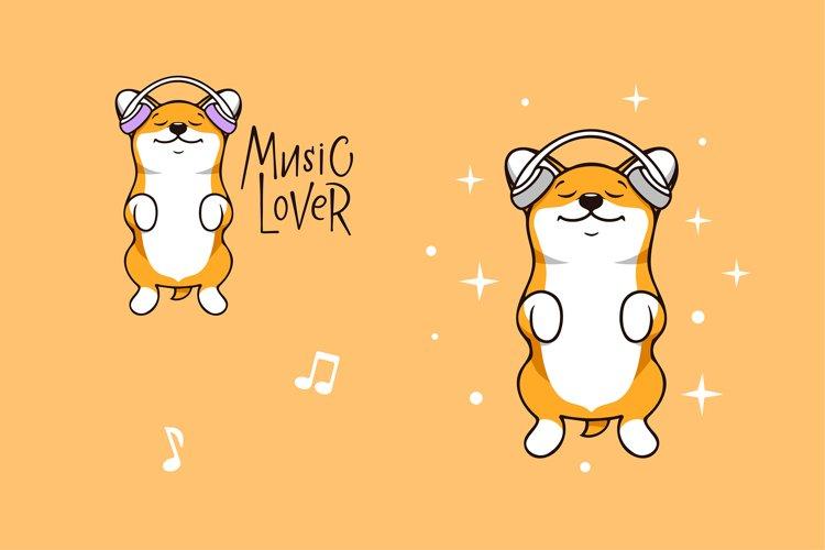 Funny dog corgi, character example image 1