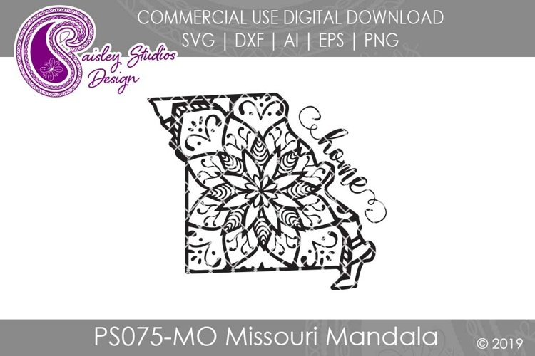 Mandala Missouri Home SVG DXF Ai EPS PNG