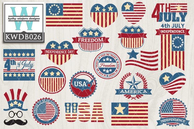 BUNDLED Patriotic Cutting Files KWDB026