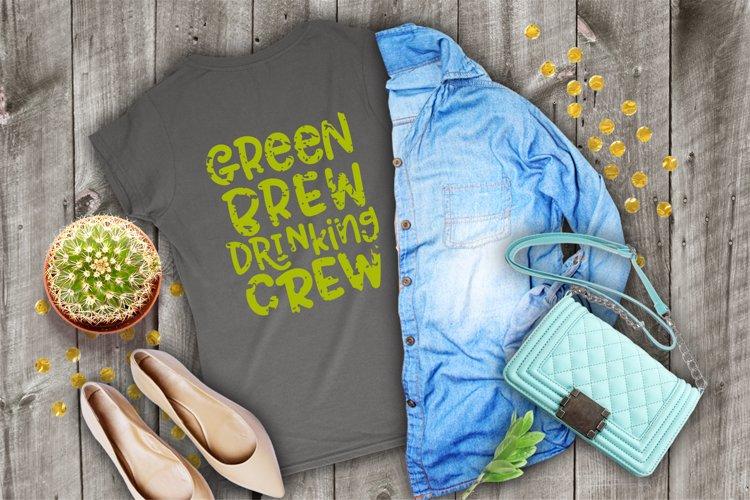 Green Brew Drinking Crew - Vintage example image 1