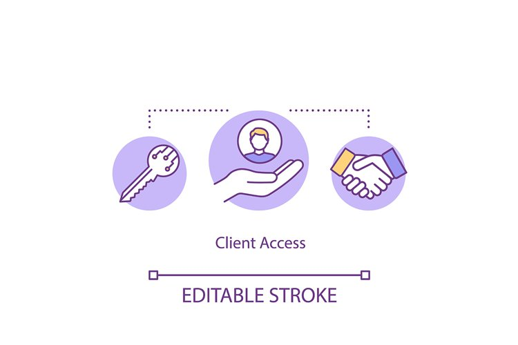 Client access concept icon example image 1
