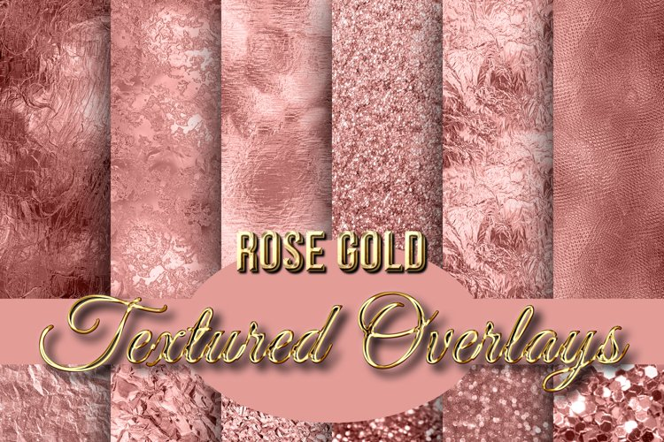 Rose Gold Textured Backgrounds