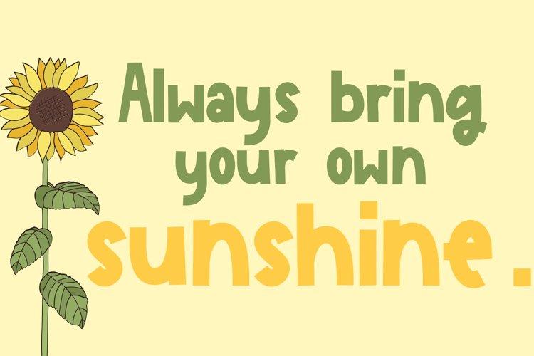 Sunflower Garden - A Cute Font example 2