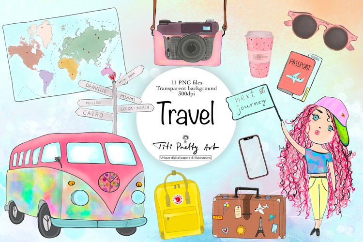 Travel Clipart, Vacation Clipart, On Trip Clipart