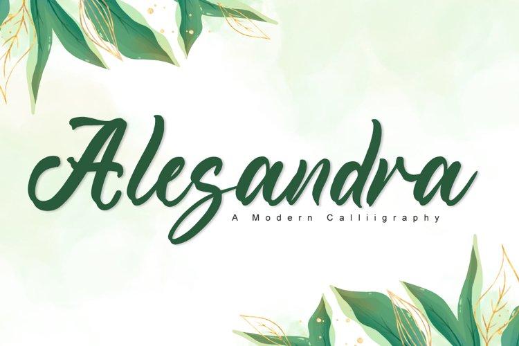 Alesandra - Wedding Font example image 1