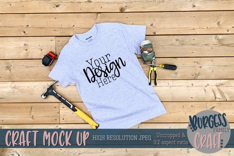 Mens grey Gildan t-shirt II |Craft mock up example image 1