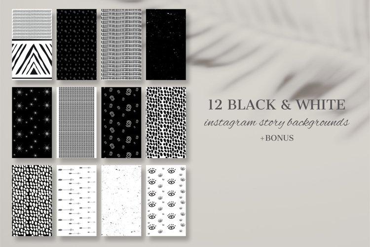 12 Black & White Instagram Story Backgrounds