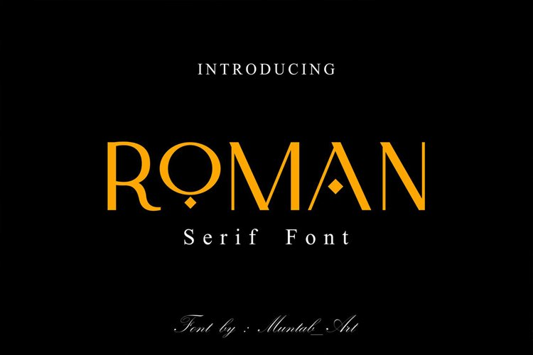 Roman | Modern Serif Font example image 1